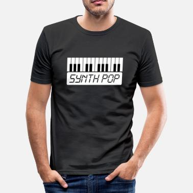 Pop Music SYNTH-POP MUSIC (1) - Herre Slim Fit T-Shirt