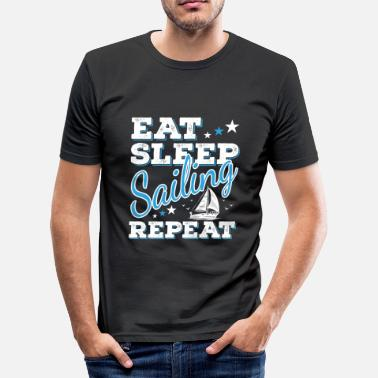 Saying Sailor Sailor Sayings Sailing sailor sailor boat saying funny gift - Men's Slim Fit T-Shirt