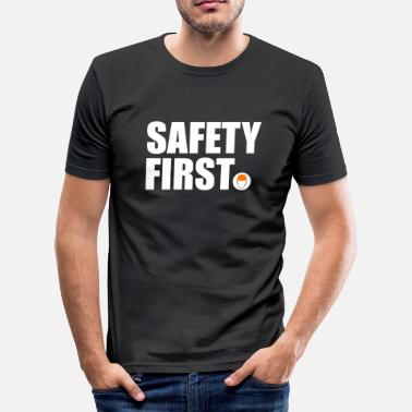 Safety Helmet Safety First Safety First Protective Helmet Protect - Men's Slim Fit T-Shirt