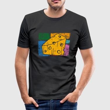 Cheese Bread cheese - Men's Slim Fit T-Shirt