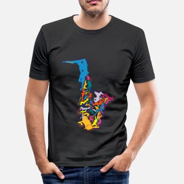 Hell Sax Addict saxophone - Men's Slim Fit T-Shirt