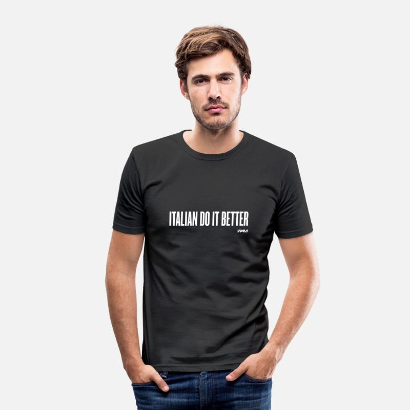 Italian T-Shirts - italian do it better  by wam - Men's Slim Fit T-Shirt black