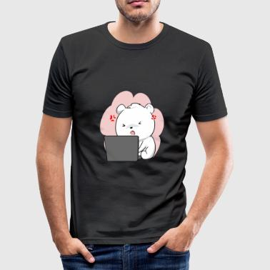 Computerwerk Polar Bear Polar Bear Laptop Animal Kawaii Chibi Cute - slim fit T-shirt