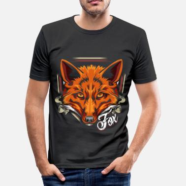 Forest Animal Forest dweller fox forest animal animal - Men's Slim Fit T-Shirt