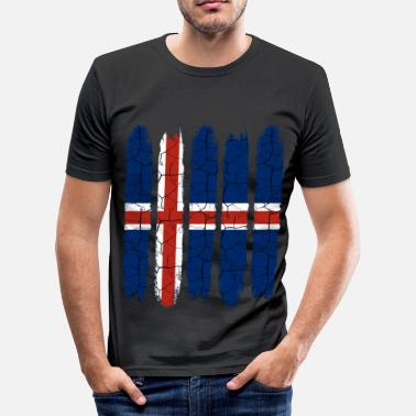 Bosted Trendy Island National Colours | Moderne gave - Slim Fit T-skjorte for menn