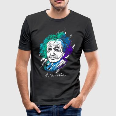 Einstein fysik lærer gave ide - Herre Slim Fit T-Shirt