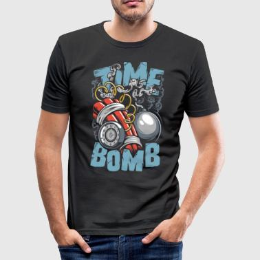 Timelord Ticking time bomb - Men's Slim Fit T-Shirt