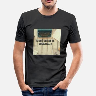 Typewriter typewriter - Men's Slim Fit T-Shirt
