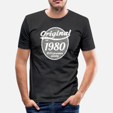 1980 1980 - Slim Fit T-shirt herr