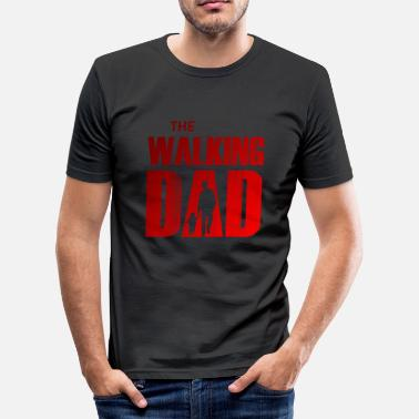 Red Walk The Walking Dad (red-gray) - Men's Slim Fit T-Shirt
