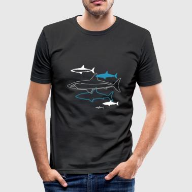 six sharks - Men's Slim Fit T-Shirt