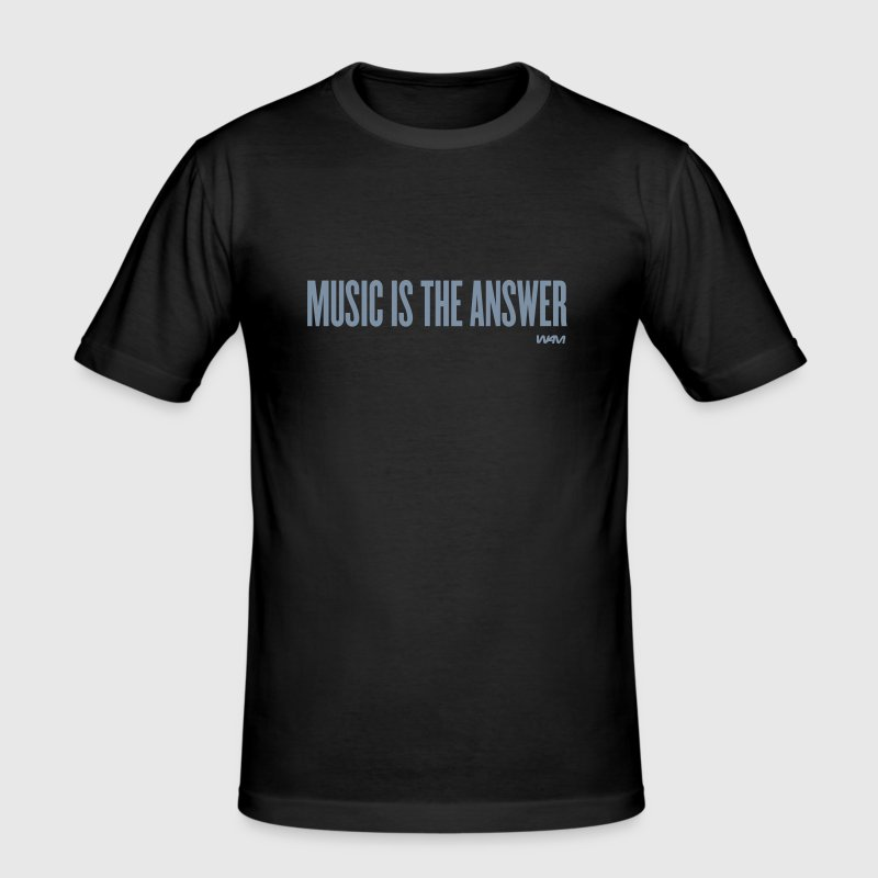 music is the answer by wam - Men's Slim Fit T-Shirt