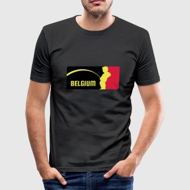 Mr Piss / manneke Pis - Belgie - Belgium - slim fit T-shirt