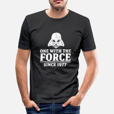 The Force One with the force - Männer Slim Fit T-Shirt