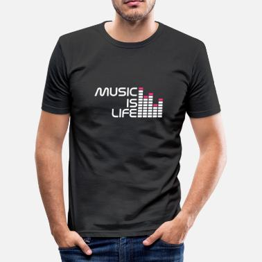 Music Is Life Equalizer music is life equalizer r EN - Men's Slim Fit T-Shirt