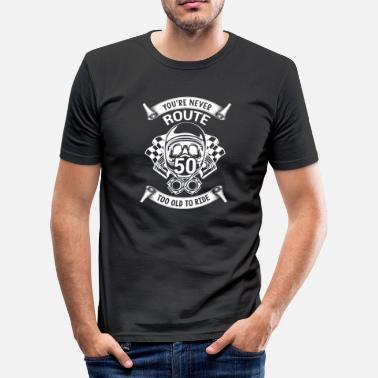 Biker Gift for 50 year old motorbike riders - Men's Slim Fit T-Shirt