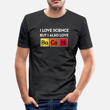 Bacon Jeg elsker Science Elements Bacon Periodic Table - Slim fit T-shirt mænd