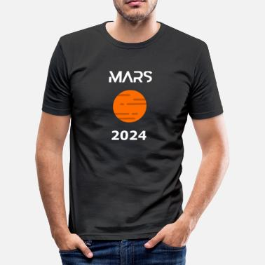 2024 Mars 2024 Planet Rocket - Herre Slim Fit T-Shirt