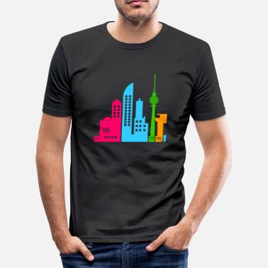 Berlin in Bunt - Männer Slim Fit T-Shirt