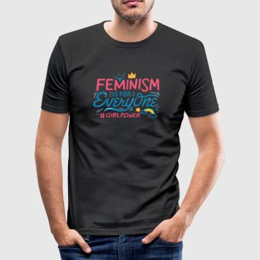 FEMINISM IS FOR EVERYONE - Männer Slim Fit T-Shirt
