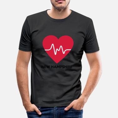 New Hampshire Heart New Hampshire - Herre Slim Fit T-Shirt
