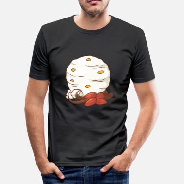 Ice Cream Vanilje Almond Ice Cream Ice Cream Ice Cream Ice Cream - Slim Fit T-skjorte for menn