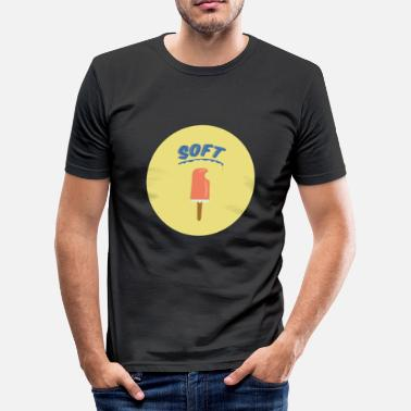 Soft-ice-cream Soft ice cream - Men's Slim Fit T-Shirt