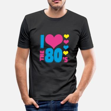80er 80er - Männer Slim Fit T-Shirt