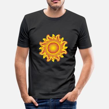 Fiery fiery sunshine sunshine summer summer star star - Men's Slim Fit T-Shirt