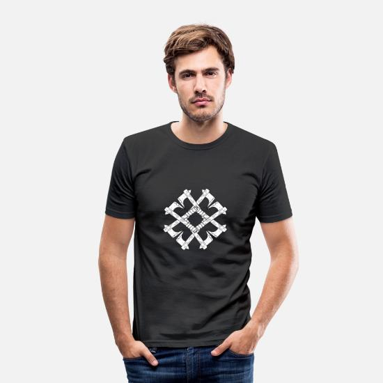 Nord T-shirts - Viking økse design - Slim fit T-shirt mænd sort