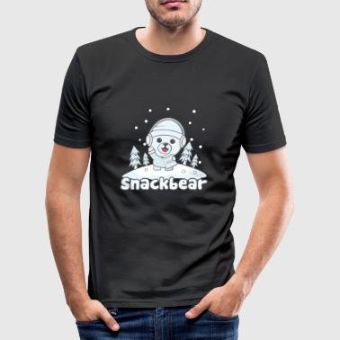 Snack bear / snack bear in the snow - Men's Slim Fit T-Shirt