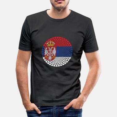 Yugoslavia Serbia Serbia Србија Srbija Love HEART Mandala - Men's Slim Fit T-Shirt