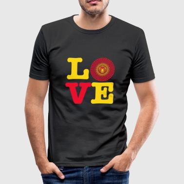 KIRGISISTAN HEART - Herre Slim Fit T-Shirt