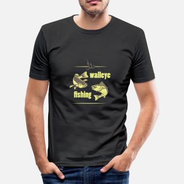 Walleye Fishing Perch American walleye fish fishing - Men's Slim Fit T-Shirt