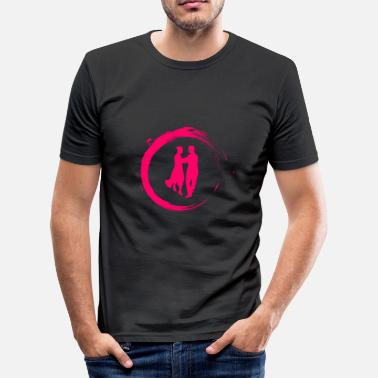 Dansemonster dans - Slim Fit T-skjorte for menn