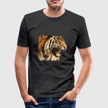 Poteaftryk Fare tiger - Herre Slim Fit T-Shirt