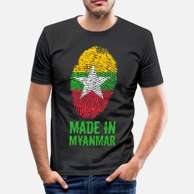 Birmanie Made In Myanmar / Birmanie / Birmanie - T-shirt près du corps Homme