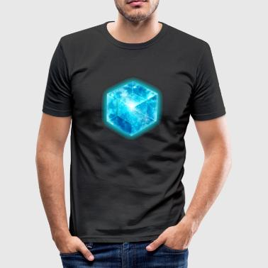 4d Hypercube 4D - TESSERACT , digital, Symbol - Dimensional Shift, Metatrons Cube,  - Slim Fit T-skjorte for menn
