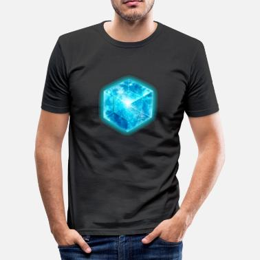 Cube Hypercube 4D - TESSERACT , digital, Symbol - Dimensional Shift, Metatrons Cube,  - T-shirt moulant Homme