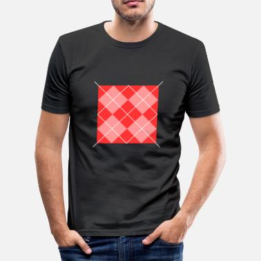 Square Red square - Men's Slim Fit T-Shirt