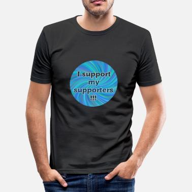 Political Football I support my supporters - Community Shirt - Blue - Men's Slim Fit T-Shirt