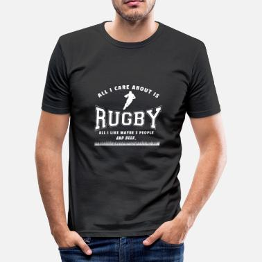 Rugby Rugby sayings gift rugby player - Men's Slim Fit T-Shirt