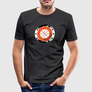 Basket Emblem - Symbol basket match - Slim Fit T-shirt herr