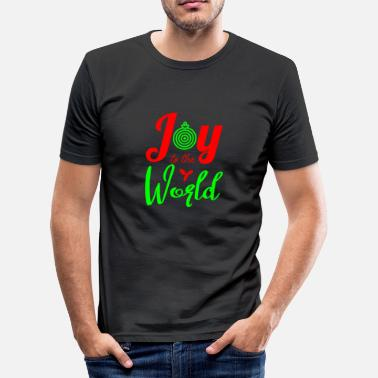 Joy joy to the world christmas shirt - Men's Slim Fit T-Shirt