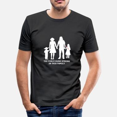Cult THE FORCE RUNS STRONG IN THIS FAMILY - Men's Slim Fit T-Shirt