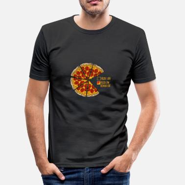 Pizza Pizza funny pizza gift - Men's Slim Fit T-Shirt