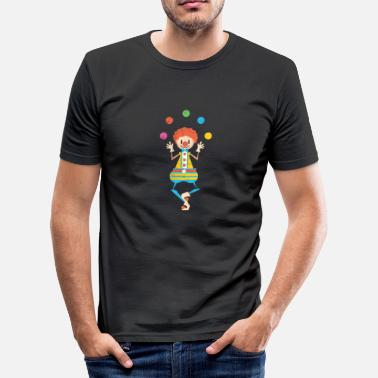 Zirkus Comic Jonglieren Jongleur Clown Zirkus Geschenk Comic - Männer Slim Fit T-Shirt