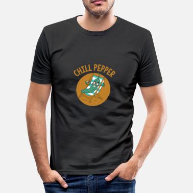 Chillies Chilli - Men's Slim Fit T-Shirt