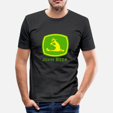 John John Beer grappig shirt - slim fit T-shirt