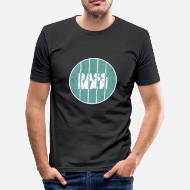 Bass Man Bass Man Gift Christmas Bassist - Men's Slim Fit T-Shirt